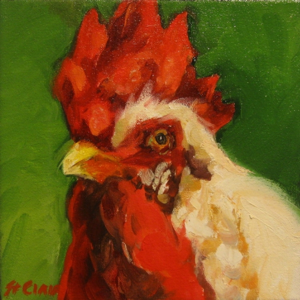 Postcard from the Farm - Rooster 8x8