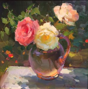 Still Life with Roses 16x16