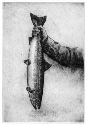 Salmon in Hand